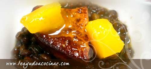 lentejas-foie-mango